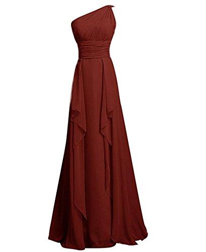 Linie A Beauty Damen Kleid burgunderfarben KA qgOF1