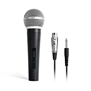 Maono AU-WDM01 Professional Dynamic Cardioid Vocal Wired Microphone with XLR Cable (Black)
