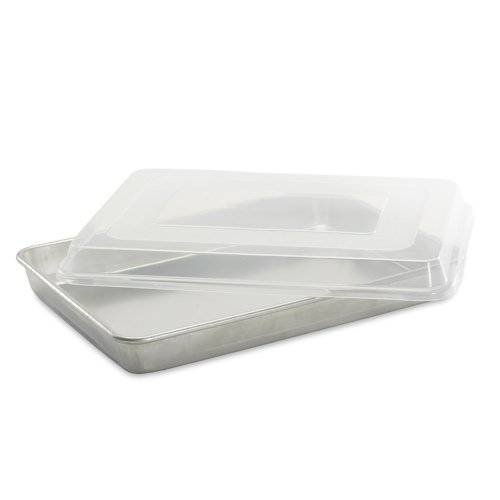 - Nordic Ware Natural Aluminum Commercial High-Sided Sheet Cake Pan with Lid