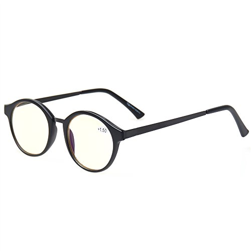 Norperwis Spring Hinges UV Protection,Blue Light and Glare Blocking, Scratch Resistant Lens Computer Reading Glasses Readers (black, 1.00)