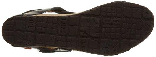 Black Sandali Art con Cinturino Pompei Nero Donna xSUgvAYwq