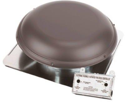 Air Vent Power Roof Ventilator 14'' Fan 25'' Dia. 1500 Sq Ft Max. 1170 Cfm 1/10 Hp