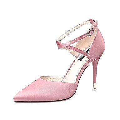 Fibbia Tacco Sandali Primavera Estate Comfort Seta Abito a spillo delle donne YCMDM , pink , us6.5-7 / eu37 / uk4.5-5 / cn37