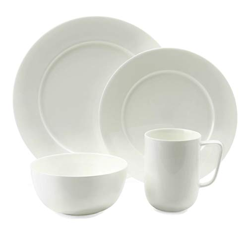 Hudson Park Collection Rim 4 Piece Bone China Place ()