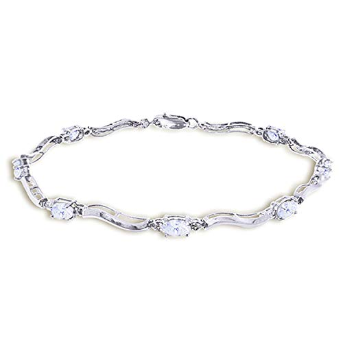 2.01 CTW 14K Solid White Gold Tennis Bracelet Diamond -