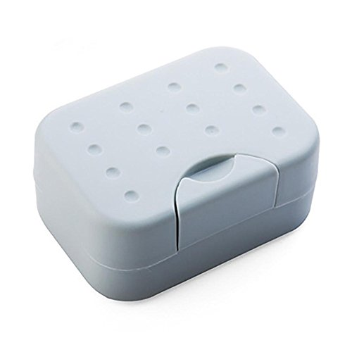 DORIC Travel Bathroom Soap Dish Box Case (Soap Tin)