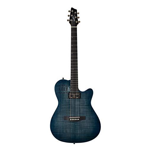Godin Guitars A6 Ultra Denim Blue Flame