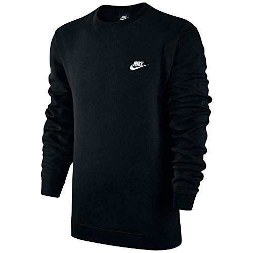 Nike Club Fleece Crew Neck Men's T-Shirt Black/White 804340-010 (Size XS) by Nike (Image #2)