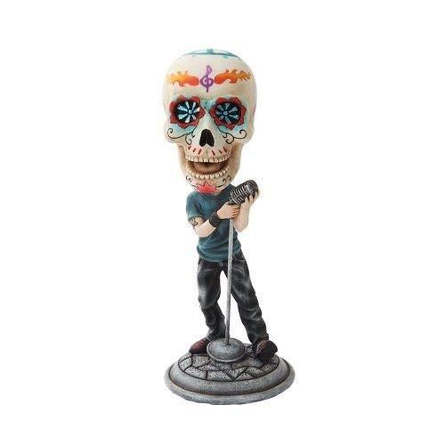 Figurine DOD Sugar Skull Lead Singer Skeleton Singing Star Statue -