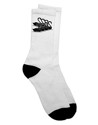 TooLoud Seven Swans A Swimming Adult Crew Socks Mens sz. 9-13 ()