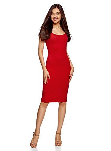 de Femme 4500n Robe 3 Dbardeur Ultra Rouge oodji Lot X8nPxwU