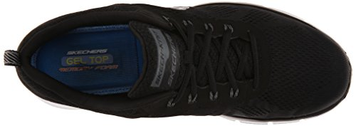 Skechers Sport Hombres Equalizer Deal Maker Oxford Negro Blanco