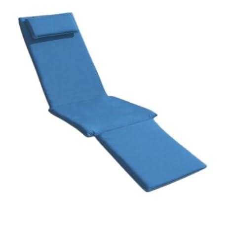 Trueshopping Steamer Chair Cushion in Blue 1460m x 550mm x 50mm