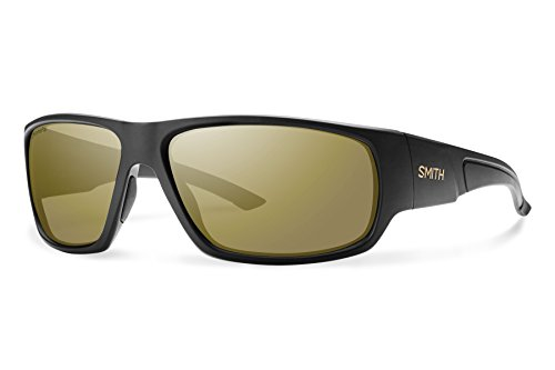 Smith Optics Discord Lifestyle Polarized Sunglasses, Matte Black/Chromapop Bronze - Fishing Smith Sunglasses