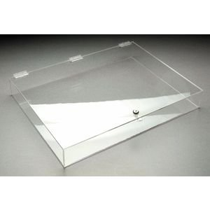 Marketing Holders Flat Acrylic Display Case with Top Hinged Door (Retail Acrylic Display Case compare prices)