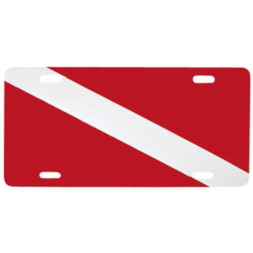 - Innovative Dive Flag Metal License Plate
