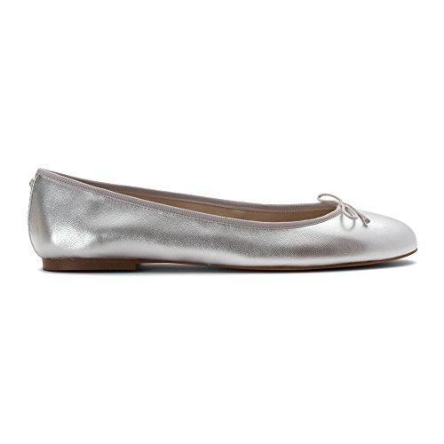 Edelman Soft Women's Sam Silver Finley Ballet Flats ga6qW0xdw