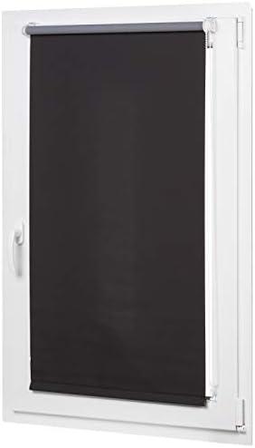 AmazonBasics – Tenda a rullo oscurante con rivestimento in colore coordinato, 56 x 150 cm, Nero