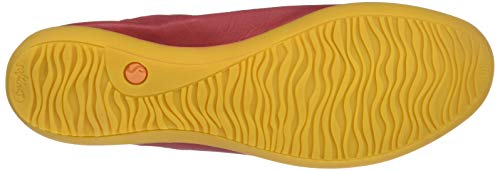 Closed Toe Women's Ballet Softinos Washed Flats Red Ona380sof qn46Zt8