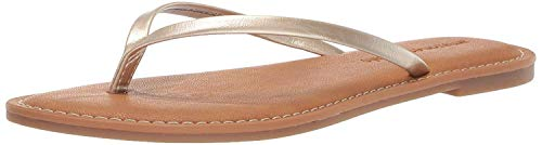 Amazon Essentials Women's Thong Sandal, Gold, 8 B US
