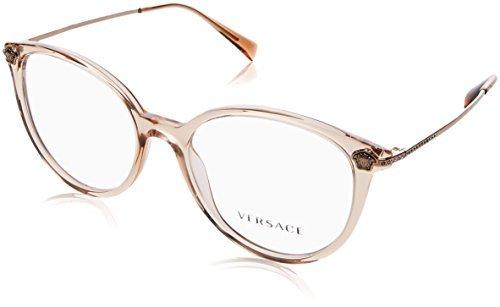 ca6d12b0493b Versace VE3251B Eyeglasses 5215 Transparent Light Brown 52-18-140   Amazon.co.uk  Clothing