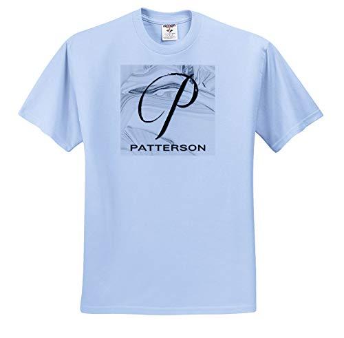 White Marble Monogram P 3dRose BrooklynMeme Monograms T-Shirts Patterson
