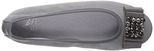 Diavolezza Isolde, Women's Closed Toe Ballet Flats Grey (Grey 38 (5)_grey)