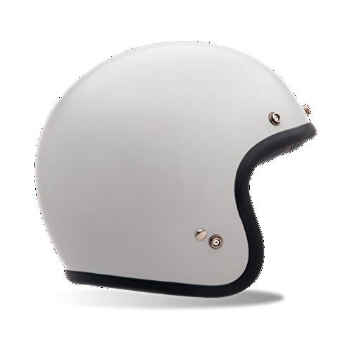 Bell Powersports Custom 500 Solid Open Face Helmets Vintage White XXL - Face Bell Open Helmets