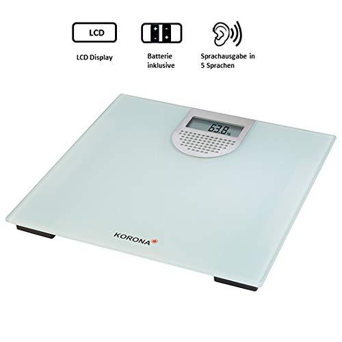 Korona Sonja Báscula Personal electrónica Plaza Gris, Plata - Báscula de baño (Báscula Personal electrónica, 180 kg, 100 g, kg, LB, Plaza, Gris, ...