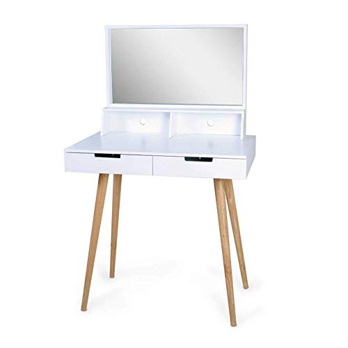Organizedlife White Large Makeup Vanity Table Desk With Import It All