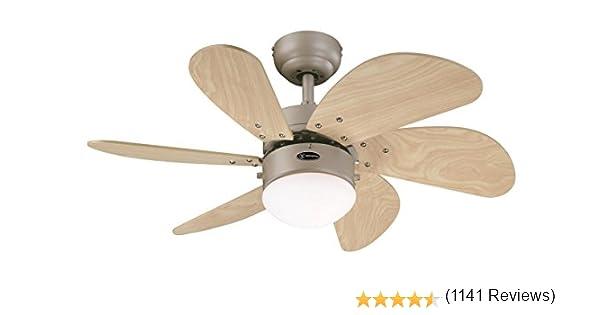 Westinghouse Turbo Swirl Ventilador de Techo E14, 60 W, Titanio: Amazon.es: Iluminación