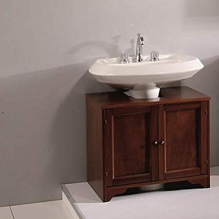 Bagno Italia Base Copri Colonna Mobile Per Bagno Copricolonna Da 70cm In Arte Povera Legno Massello Noce Amazon It Casa E Cucina
