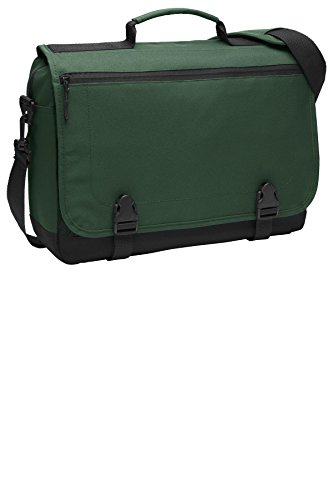 Port Authority Luggage-and-Bags Messenger Briefcase OSFA Forest Green