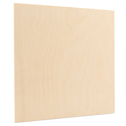 3 mm 1/8 x 12 x 12 Inch Premium Baltic Birch Plywood, Box of