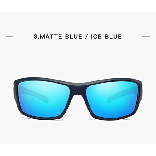 Polarisées reflets Lens Femmes Matte Blue De Pour Nocturne Zhongke Lunettes Uv400 Soleil Conduite Anti wtPHO0