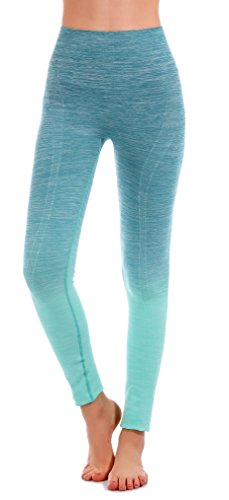 RUNNING GIRL Ombre Yoga Pants Ultrasoft Performance Active Stretch High Waisted Running Leggings (L/XL, Green)]()