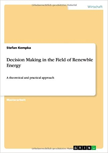 Book Decision Making in the Field of Renewble Energy