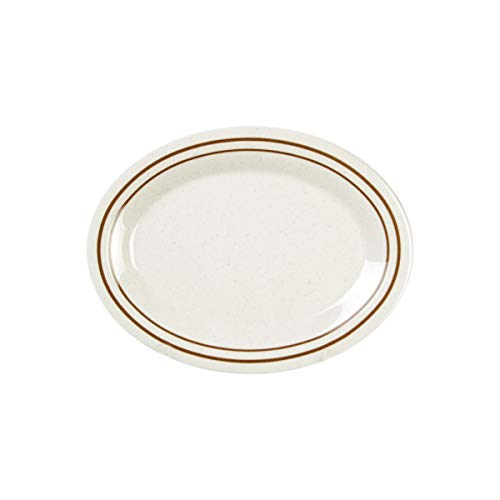 (Arcadia melamine dinnerware collection 11.5 x 8 inch oval platter 3/4 inch deep, comes in)