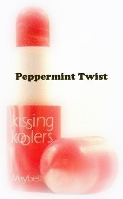 Maybelline Kissing Koolers Flavored Lip Gloss ~ Peppermint Twist (Quantity 1)