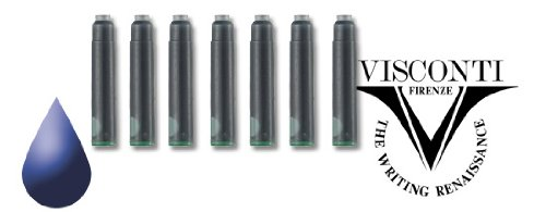 Visconti Refills Pack of 7 Blue Fountain Pen Cartridge - V-A5217