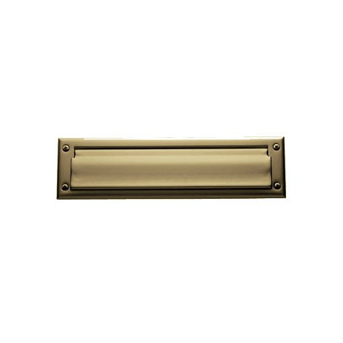 Baldwin 0014034 Letter Box Plate, Unlacquered Vintage Brass ()