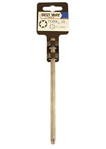 Best Way Tools 65869 Torx Accessories,  T30 6-Inch Long Torx Power Bit