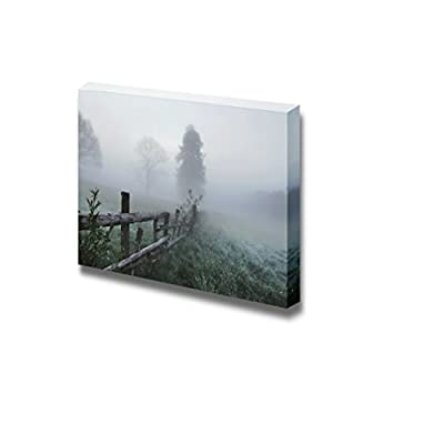 Canvas Prints Wall Art - Beautiful Scenery/Landscape Stunning Foggy Morning | Modern Wall Decor/Home Decoration Stretched Gallery Canvas Wrap Giclee Print & Ready to Hang - 16