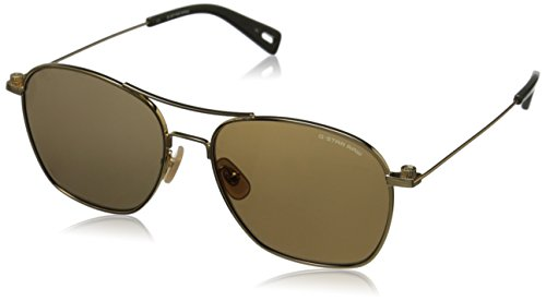 G-Star Raw Men's GS110S Aviator Sunglasses - Gold - 56 mm
