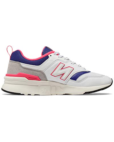 New Balance Women's 997h V1-Sneakers, White/Team Royal, 6.5 B US