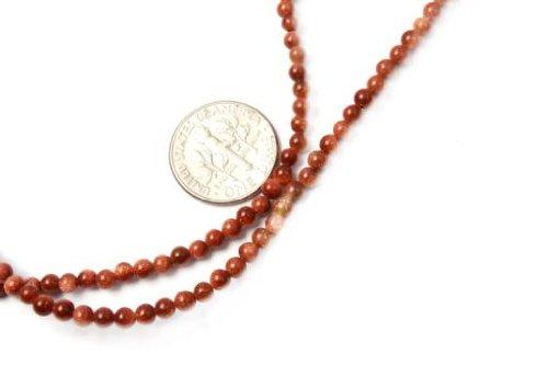 (3mm Round Gold Aventurine Seed Beads Strand 15 Inch Jewelry Making Beads)
