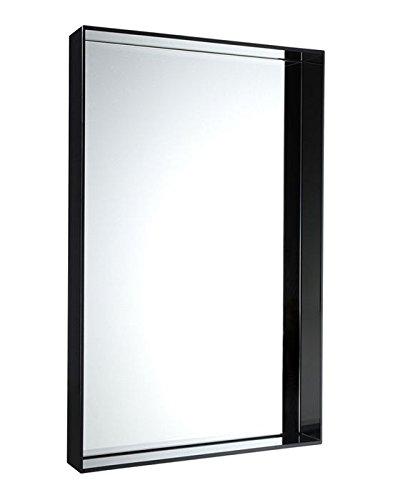 Kartell Only Me Spiegel, Bambus, dunkel schwarz, 9 x 70 x 50 cm