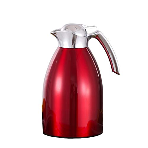 - Moolo Thermoses Insulation Pot,1.5L Large Capacity Stainless Steel Thermos Coffee Carafe Double Walled Vacuum Insulated Coffee Pot Jug Leak Proof Heat Cold Retention C2 (Color : Red)