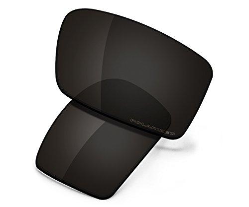 Saucer Premium Replacement Lenses for Oakley Gascan Sunglasses High Definition - Carbon Black ()