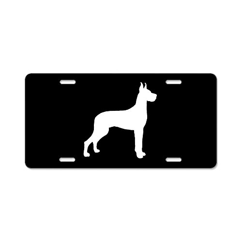 - CafePress - Great Dane Silhouette - Aluminum License Plate, Front License Plate, Vanity Tag